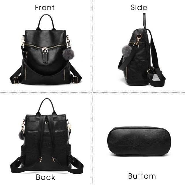 Fashion Style Compact Leather Backpack