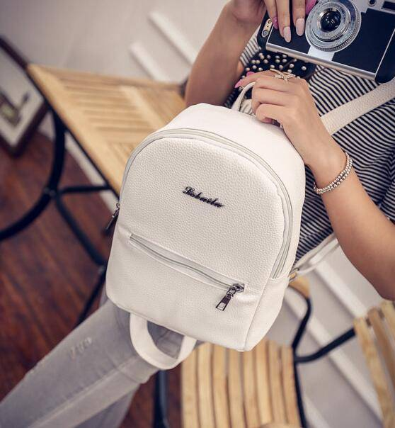 Women's Cute Small Leather Backpack