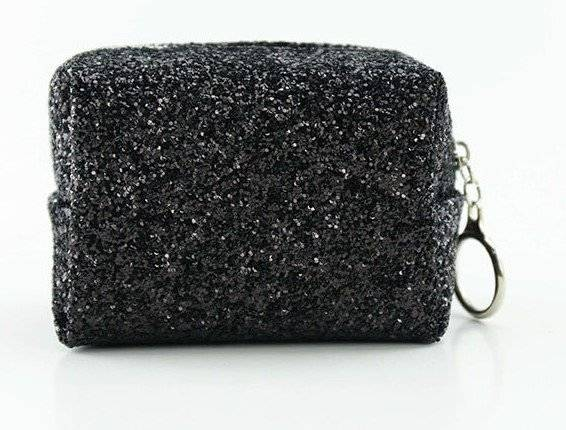 Cube Shaped Holographic Glitter Cosmetic Bag