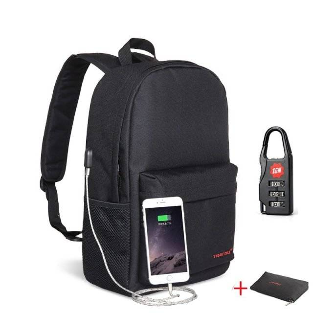 Compact Design Women's Backpack with USB Charging Port
