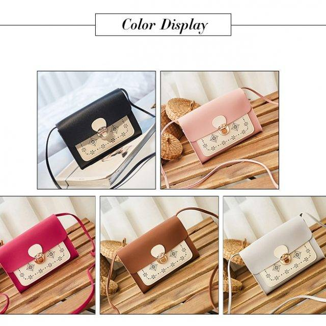 Fashion Colorful Women's Messenger Bag with Hasp