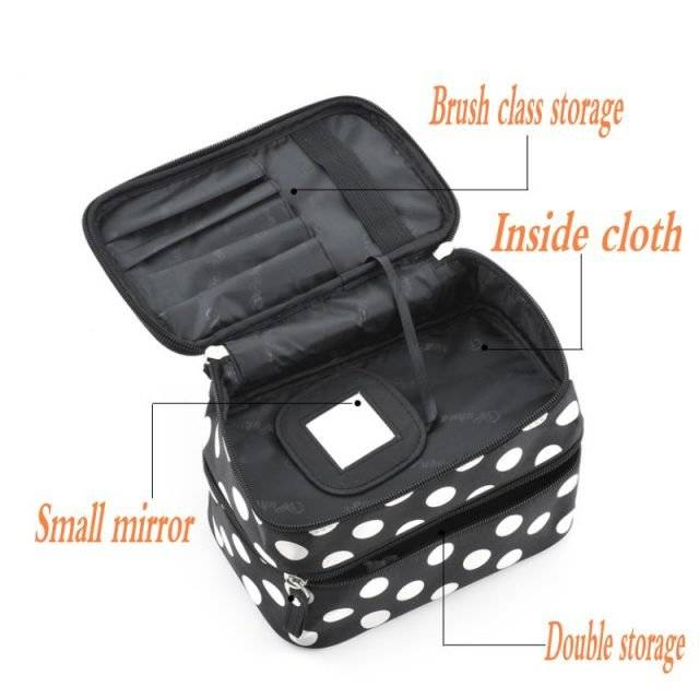Polka Dot Cosmetic Bag