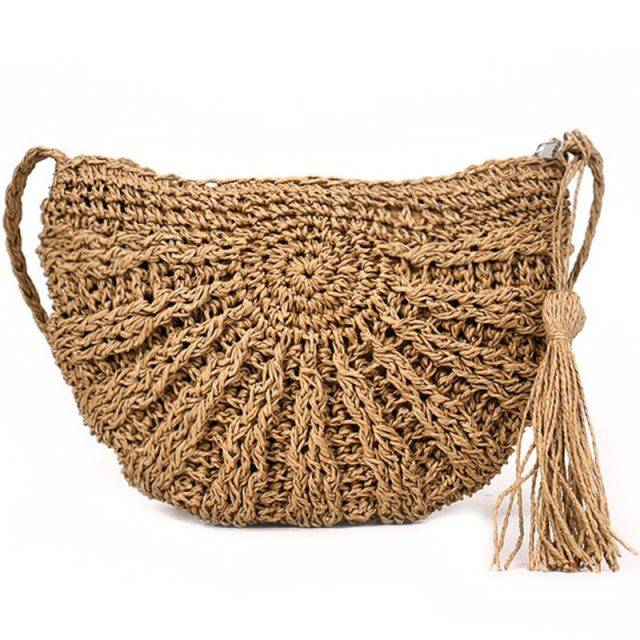 Women's Boho Straw Bag