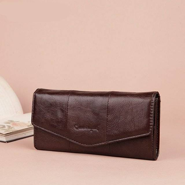 Women's Soft Leather Clutch and Wallet