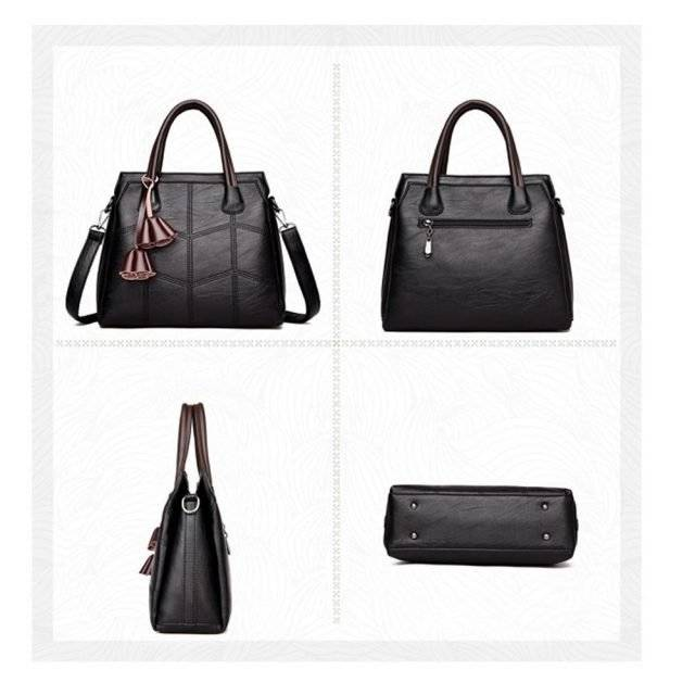 Women's Fashion Leather Top-Handle Bag