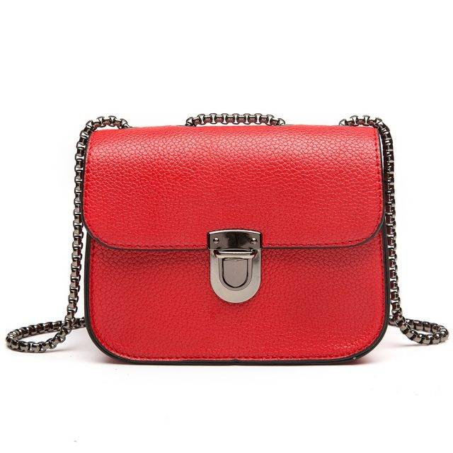 Fashion Solid Women's Flap Bag with Decorative Lock