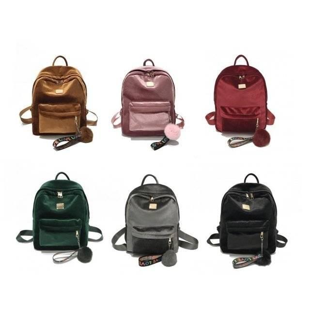Fashion Velvet Women Backpack