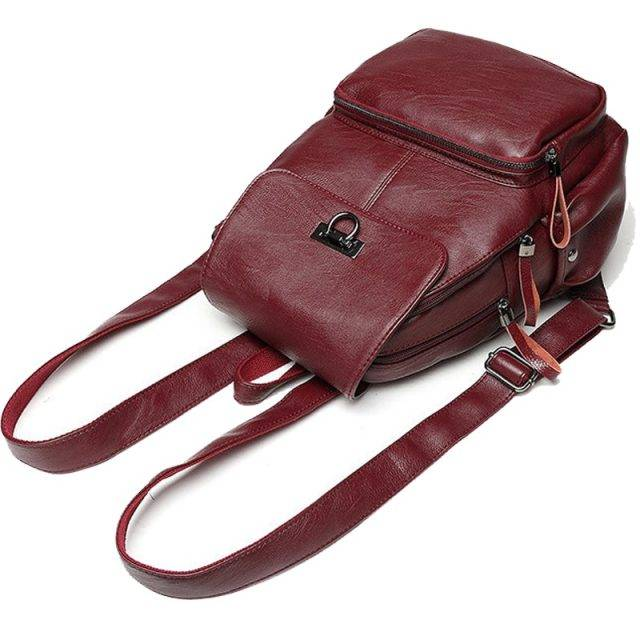 Casual Women's Genuine Leather Backpack