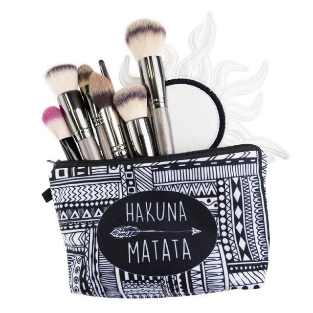 Women's Printed Makeup Bag