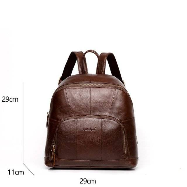 Women's Natural Leather Backpack