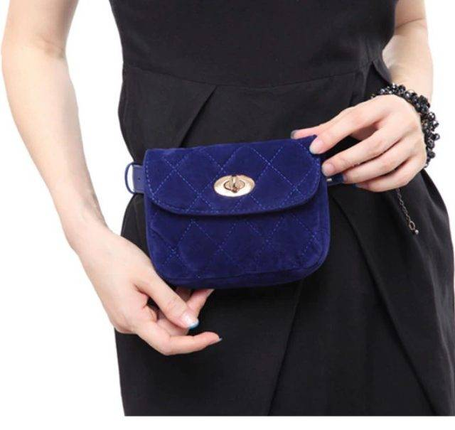 Women's Quilted Velvet Waist Pack