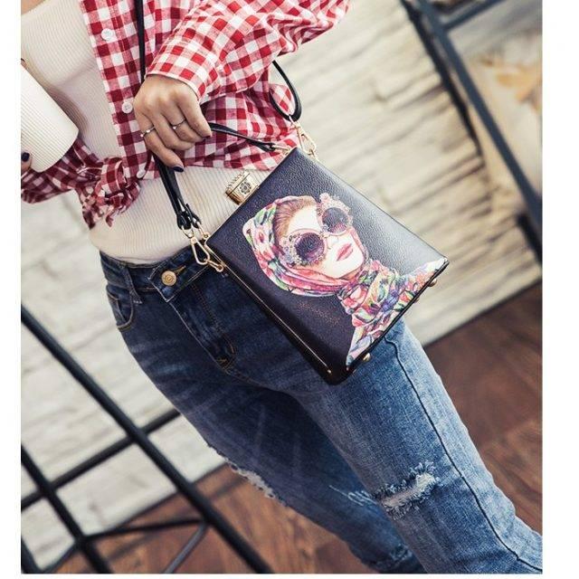 Girls Fashion Print Ladies Box Bag