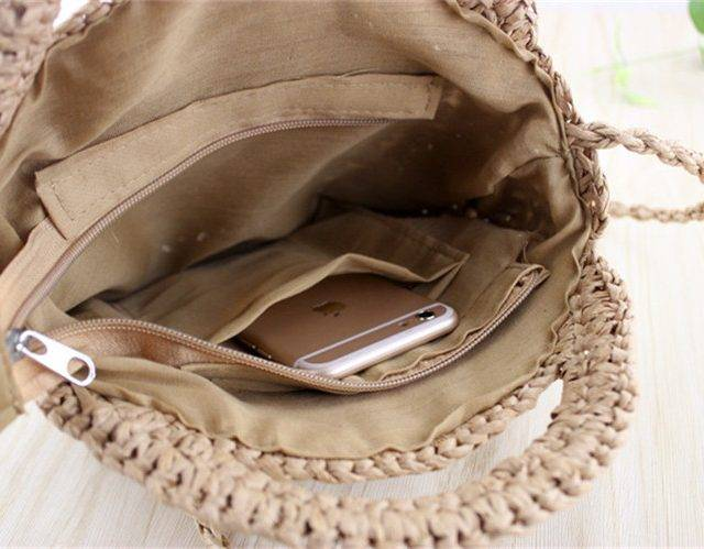 Women's Boho Woven Straw Crossbody Bag