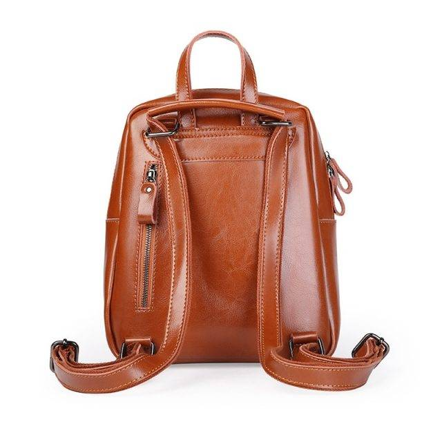 Luxurious Genuine Leather Backpack for Women