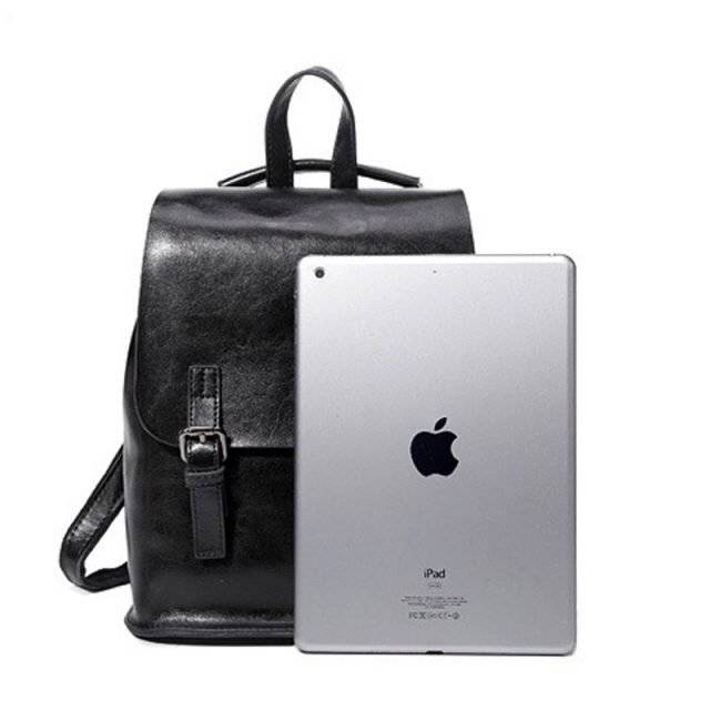 Classic Casual Women's Genuine Leather Backpack