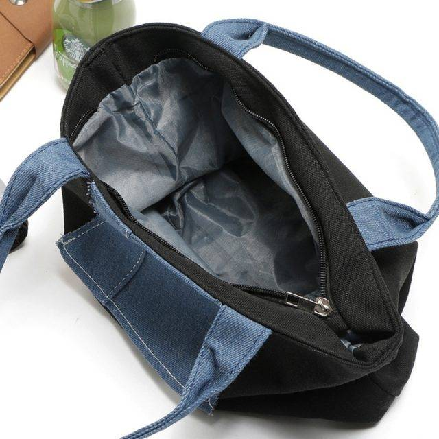 Large Casual Canvas Top-Handle Bag