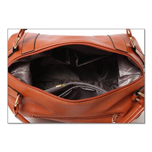 Women's Casual Leather Large Capacity Hobo Bag