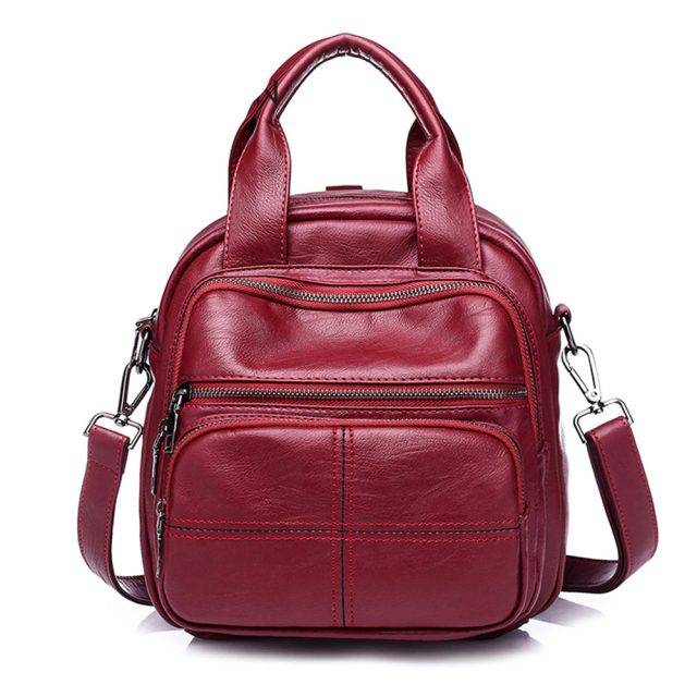 Women's Large Capacity PU Leather Backpack