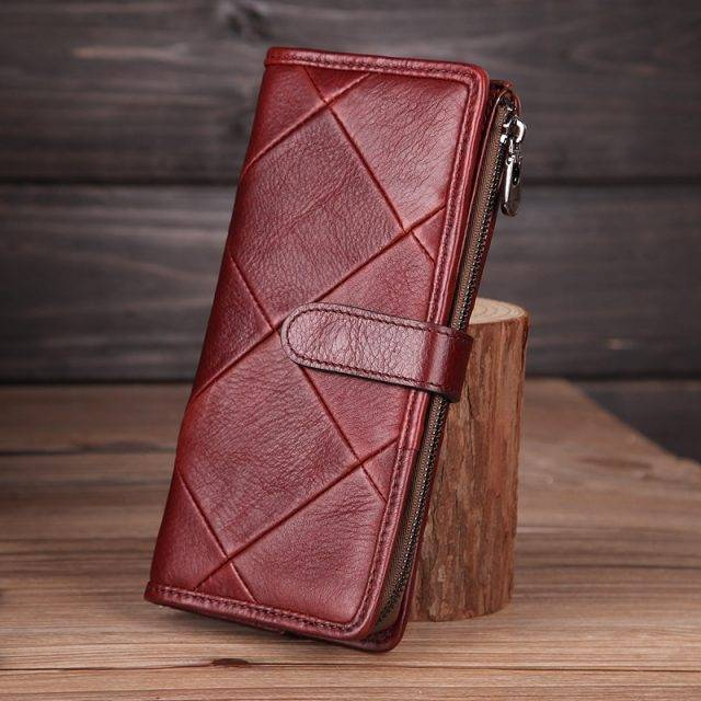 Women's Patchwork Leather Wallet and Clutch
