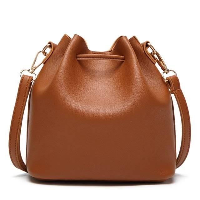 Women's Bucket Bag with Tassel