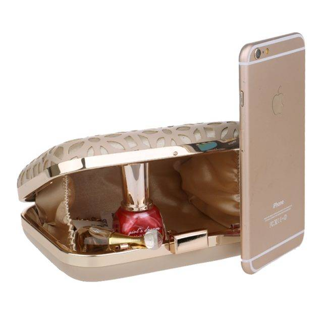 Elegant Women's Polyester Hollow Out Clutch