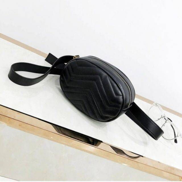 Women's Wave Embroidery Waist Pack