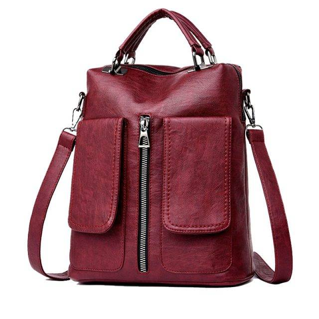 Fashion Women's Genuine Leather Backpack