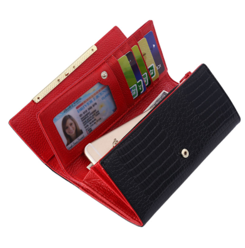Luxurious Artificial Crocodile Leather Women's Wallet