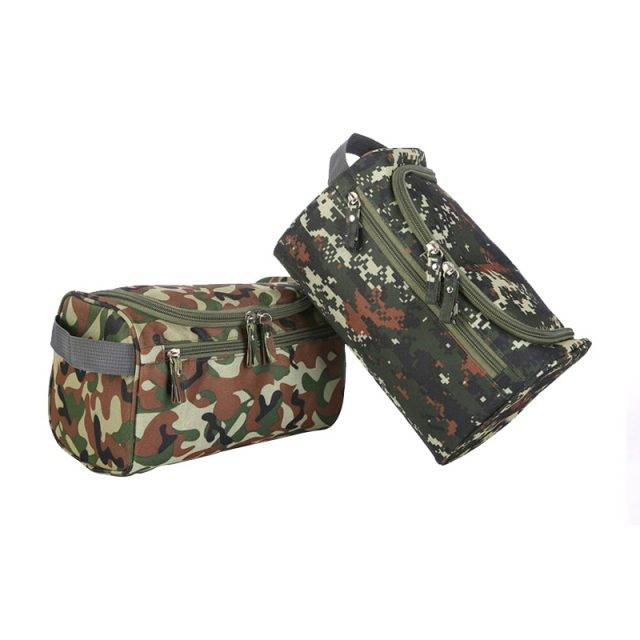 Business Waterproof Camouflage Print Travel Cosmetic Bag