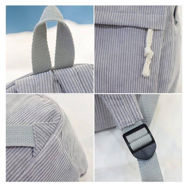 Women's Casual Corduroy Backpack