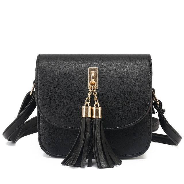 Women's Mini Bag with Tassels