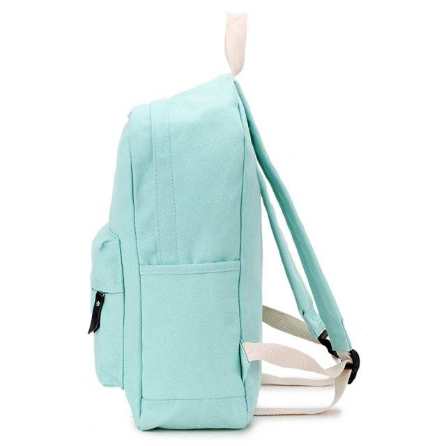 Casual Candy Color Canvas Backpack
