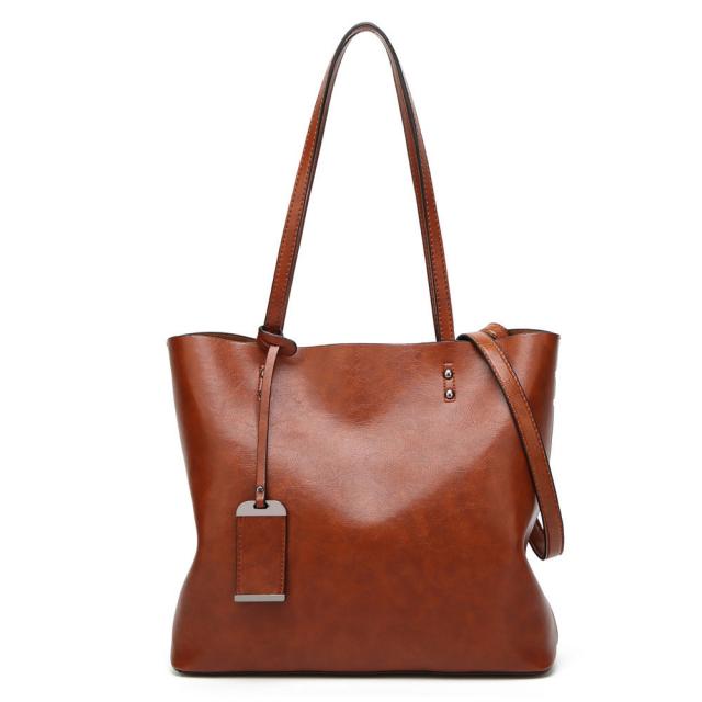 Women's Large Leather Shoulder Bag