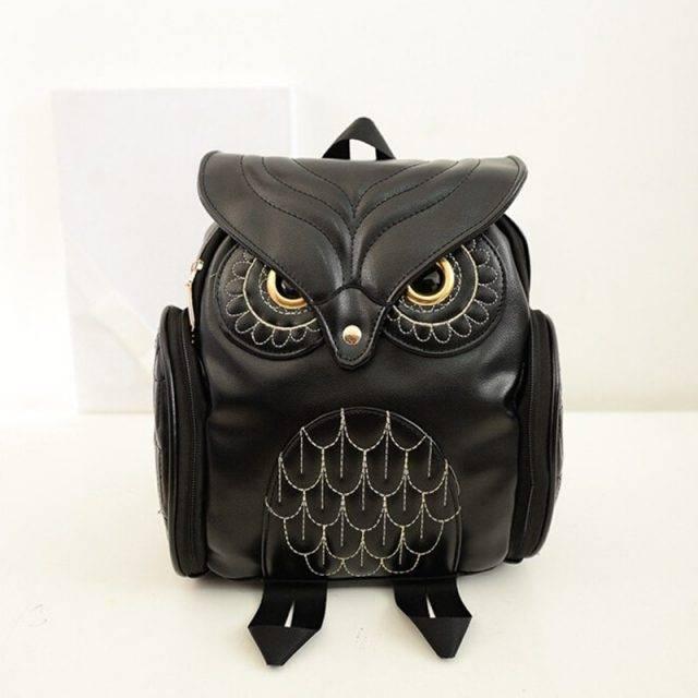 Stylish Colorful Owl Shaped Women's Backpack