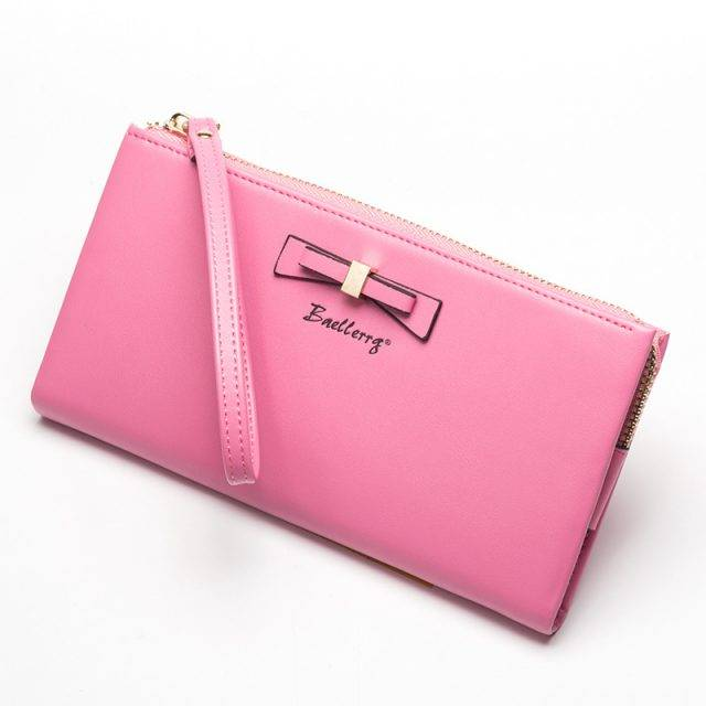 Women's Soft Leather Zipper Wallet