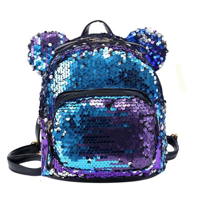 Women's Sequined Mouse Backpack