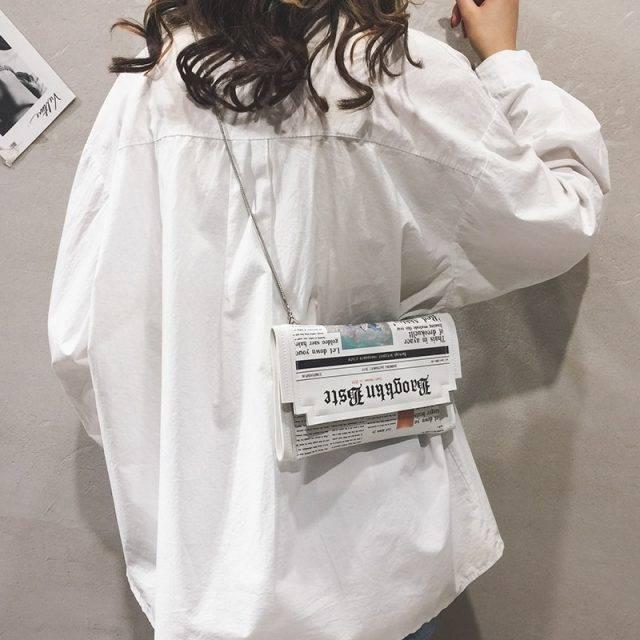Women's Newspaper Design Clutch