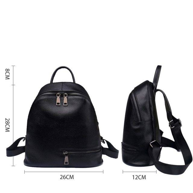 Fashion Solid Women's Genuine Leather Backpack