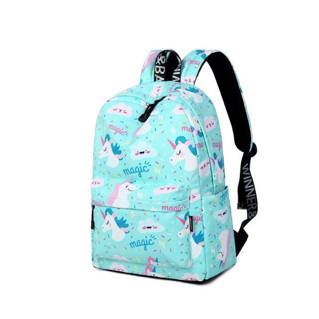 Women's Unicorn Printed Backpack