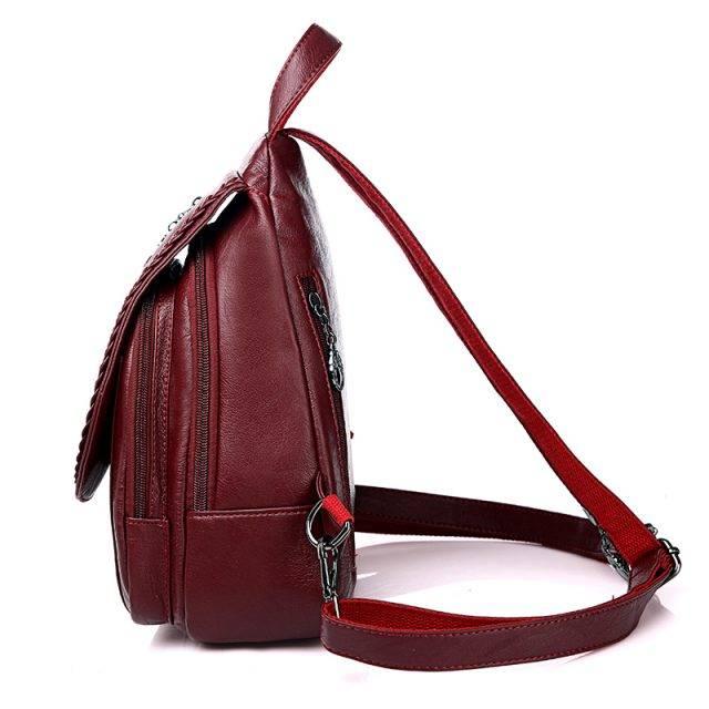 Fashion Double Zipper Women Backpack