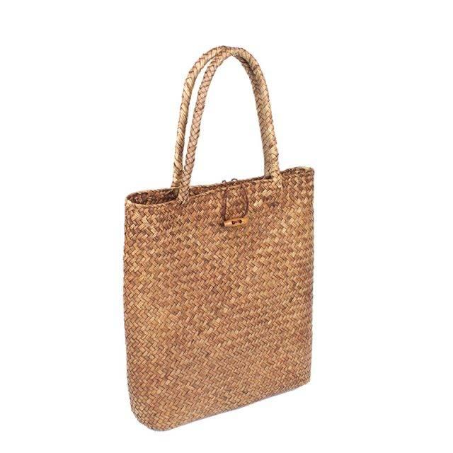 Women's Straw Shopper Beach Bag