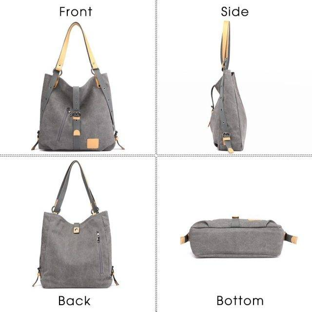 Fashion Solid Women's Canvas Shoulder Bag
