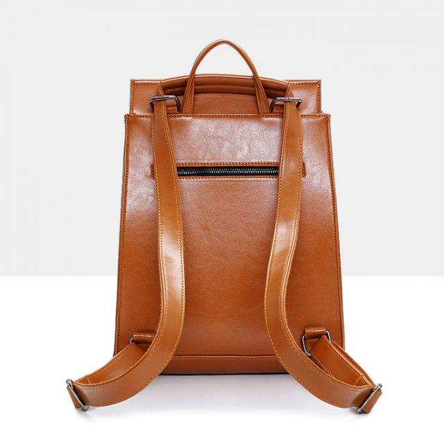 Women's Casual Leather Backpack