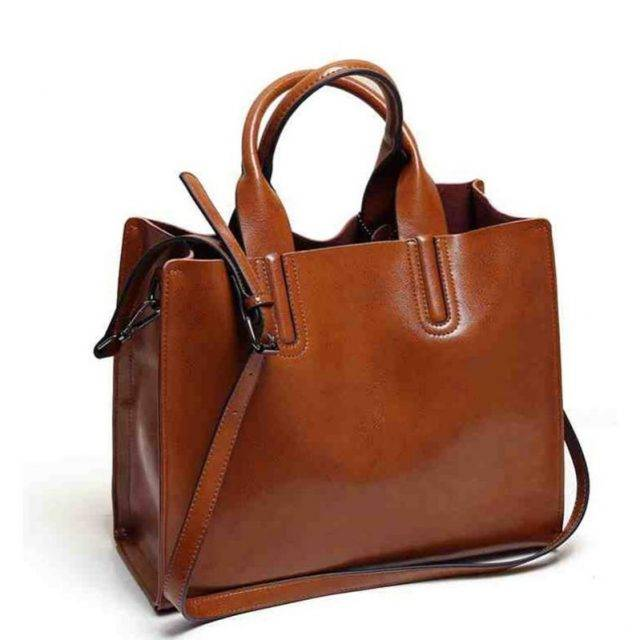 High Quality Large Capacity Leather Women's Shoulder Bag