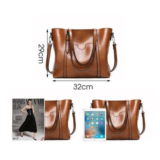 Fashion Large Capacity Women's PU Leather Tote Bag