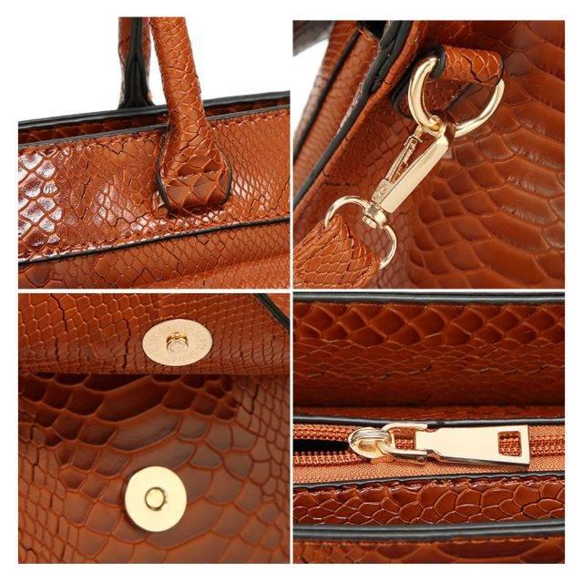 Women's Leather Top Handle Bag