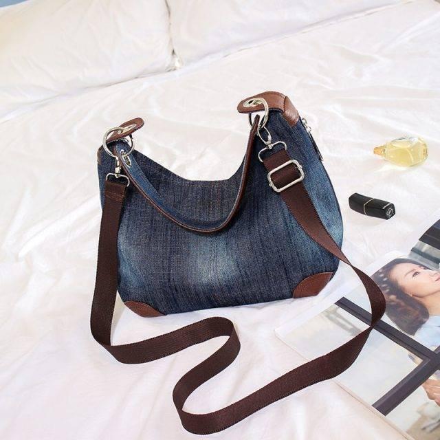 Women's Denim Hobo Bag