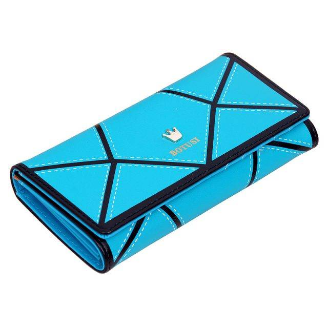 Women's Wallet with Geometric Pattern