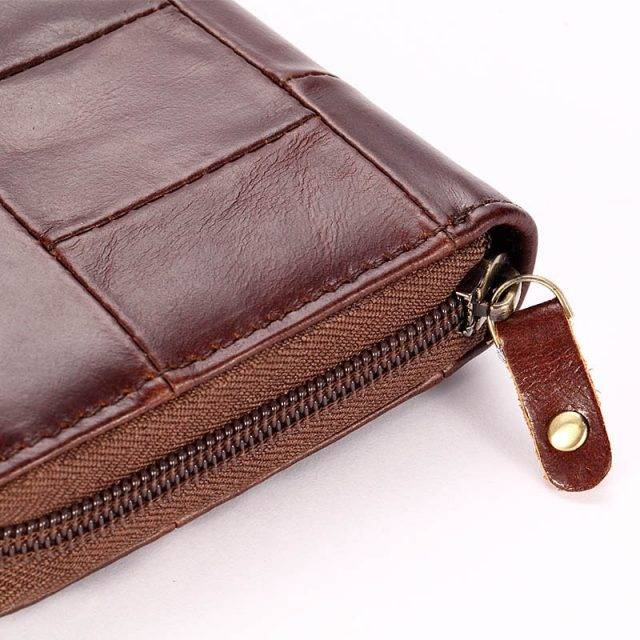 Casual Women's Genuine Leather Long Wallet