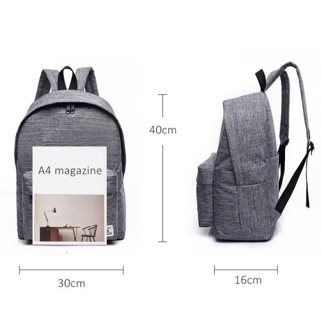 Simple Canvas School Backpacks